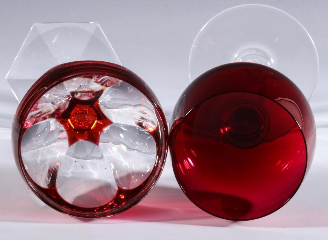 FOUR BACCARAT AND OTHER QUALITY CUT TO CLEAR WINE - 5