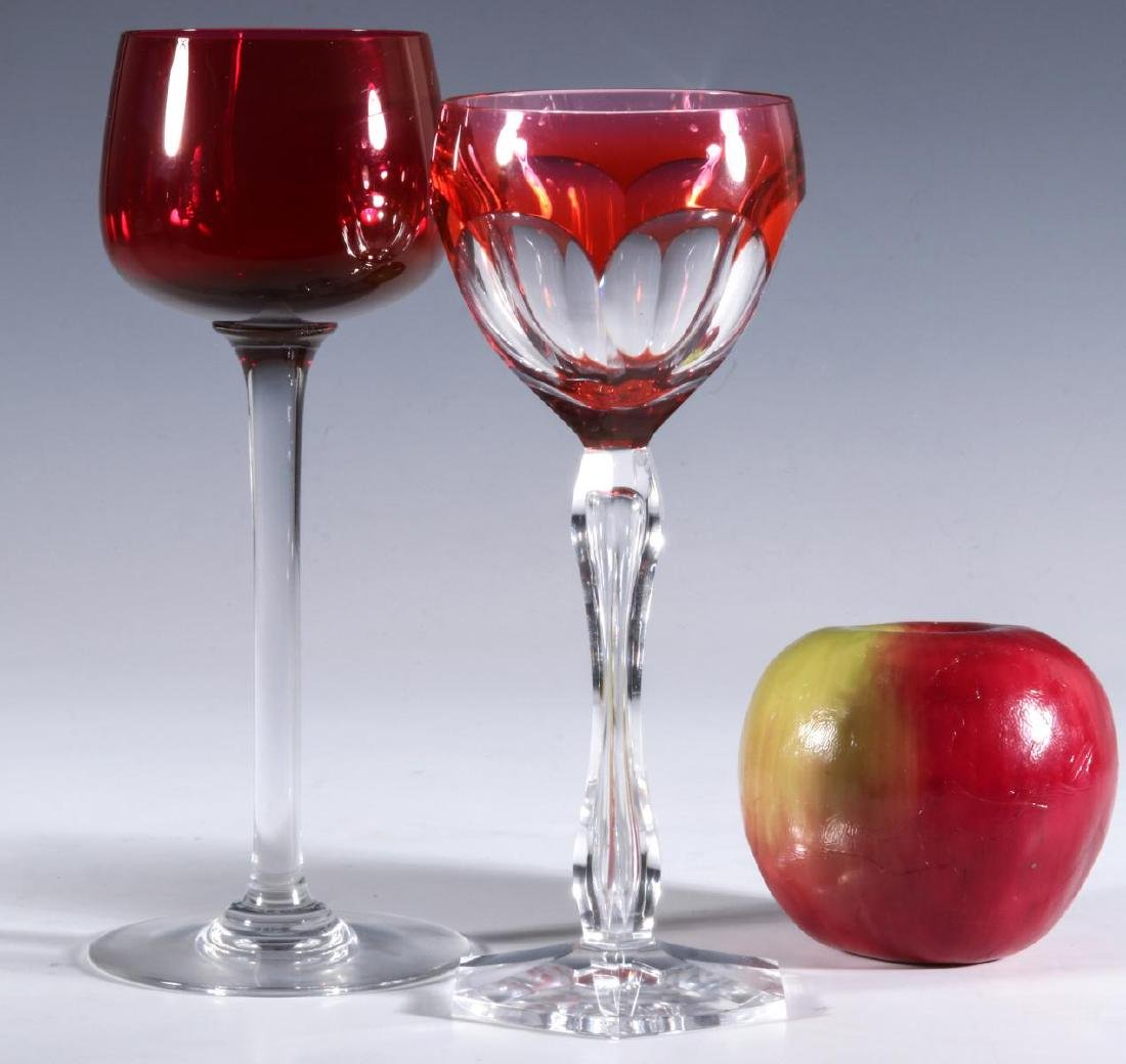 FOUR BACCARAT AND OTHER QUALITY CUT TO CLEAR WINE - 6