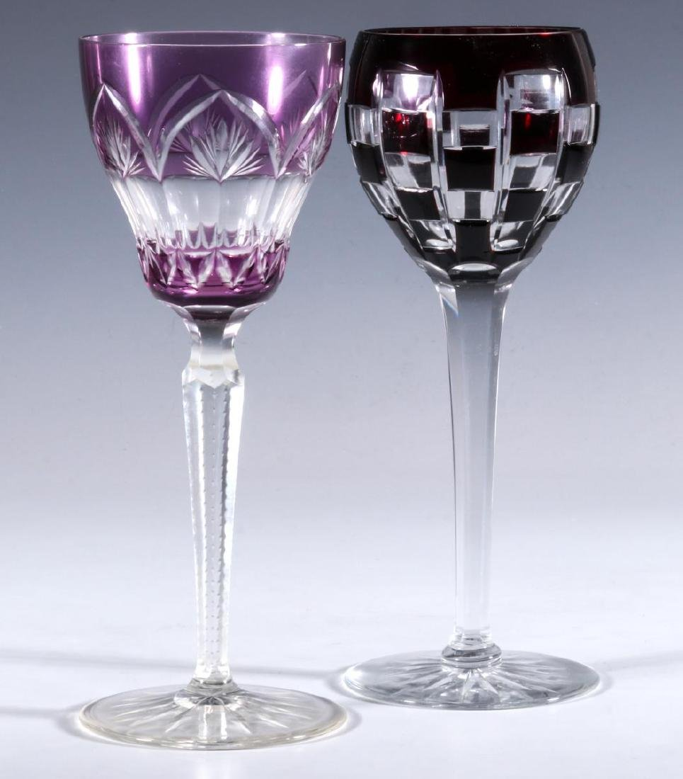 FOUR BACCARAT AND OTHER QUALITY CUT TO CLEAR WINE - 7