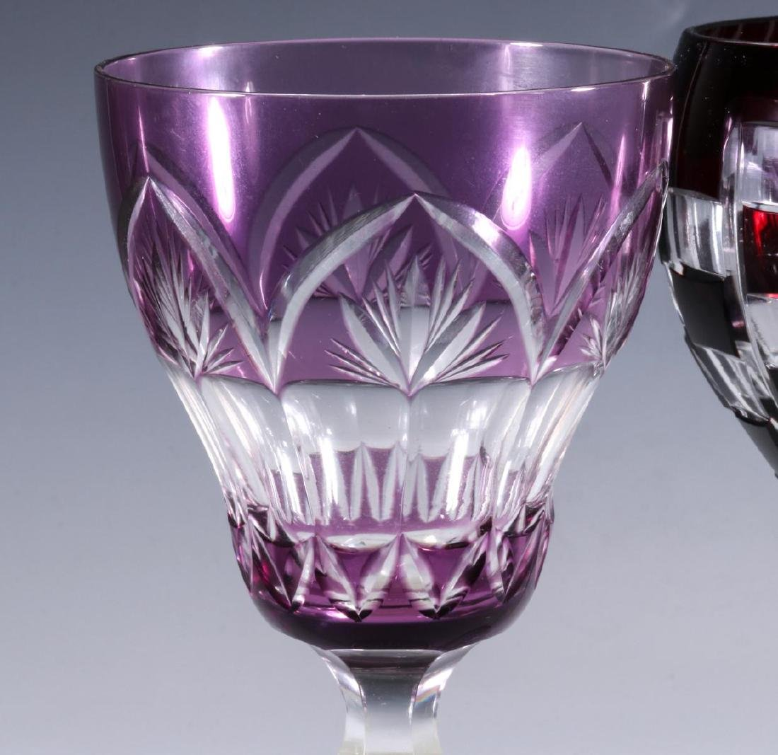 FOUR BACCARAT AND OTHER QUALITY CUT TO CLEAR WINE - 8