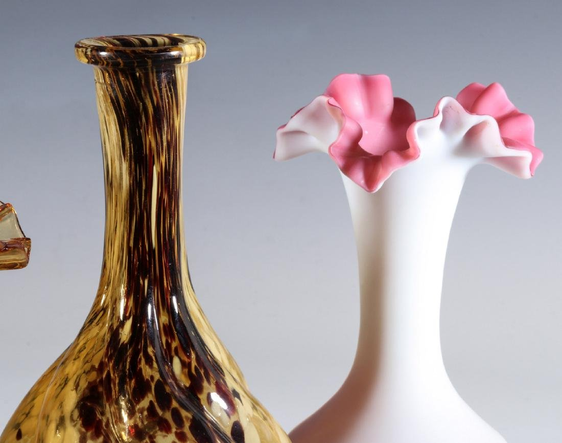 FOUR DIFFERENT VICTORIAN ART GLASS EXAMPLES - 4
