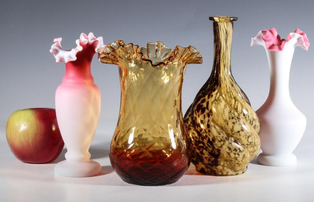 FOUR DIFFERENT VICTORIAN ART GLASS EXAMPLES - 6