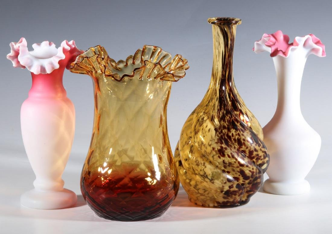 FOUR DIFFERENT VICTORIAN ART GLASS EXAMPLES - 7
