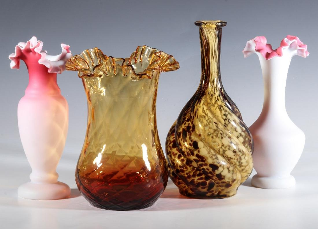 FOUR DIFFERENT VICTORIAN ART GLASS EXAMPLES - 8