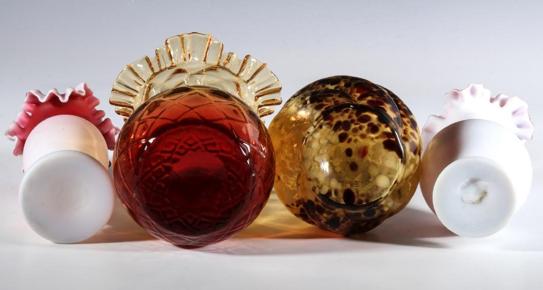 FOUR DIFFERENT VICTORIAN ART GLASS EXAMPLES - 9