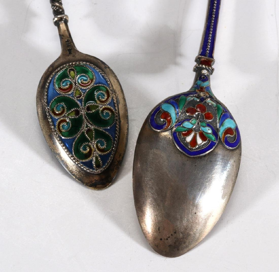 COLLECTION OF STERLING CHAMPLEVE AND PLIQUE A JOUR - 6