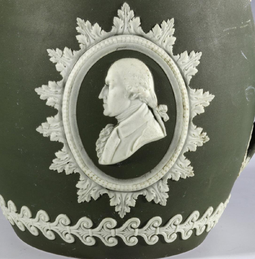 A WEDGWOOD PITCHER WITH WASHINGTON AND FRANKLIN - 4