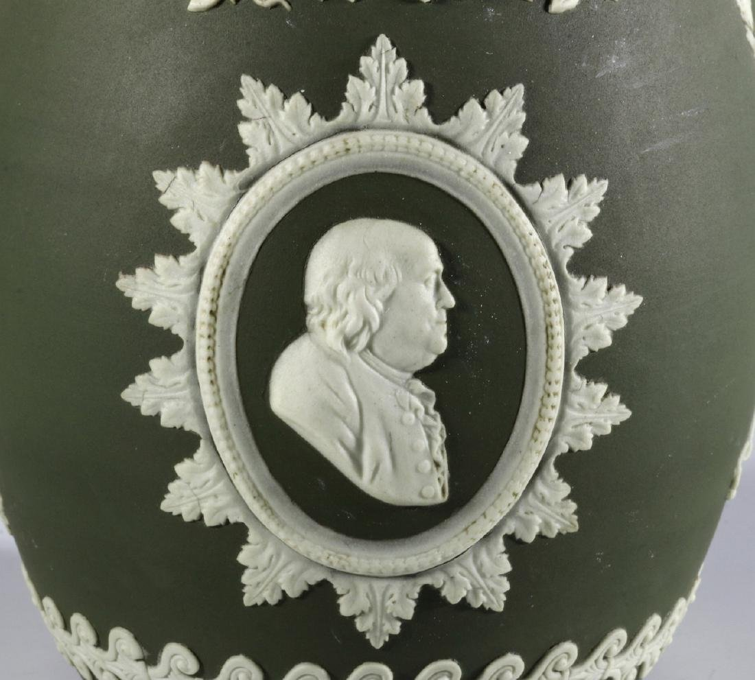 A WEDGWOOD PITCHER WITH WASHINGTON AND FRANKLIN - 8