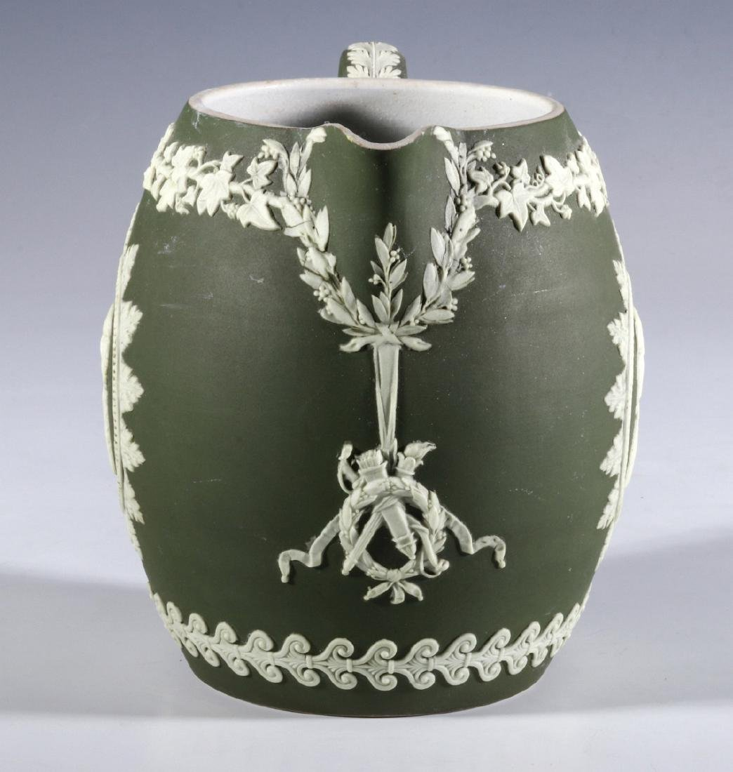 A WEDGWOOD PITCHER WITH WASHINGTON AND FRANKLIN - 9