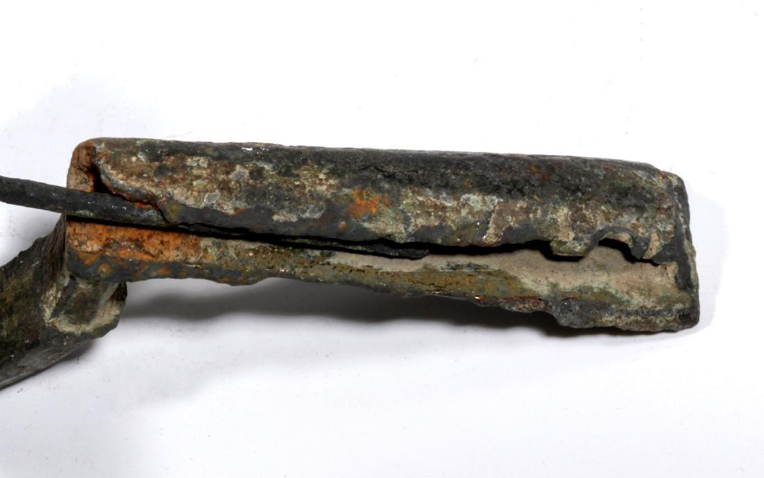 AN ANCIENT ROMAN BRONZE CROSSBOW FORM FIBULA - 3
