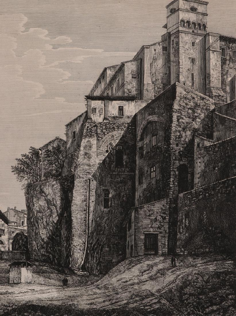 A 19TH CENTURY ENGRAVING LUIGI ROSSINI (1790-1857)