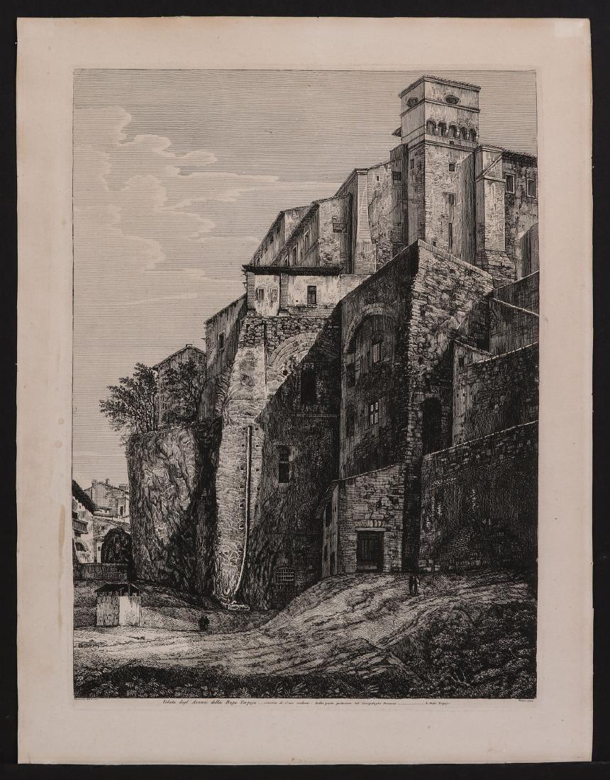 A 19TH CENTURY ENGRAVING LUIGI ROSSINI (1790-1857) - 2