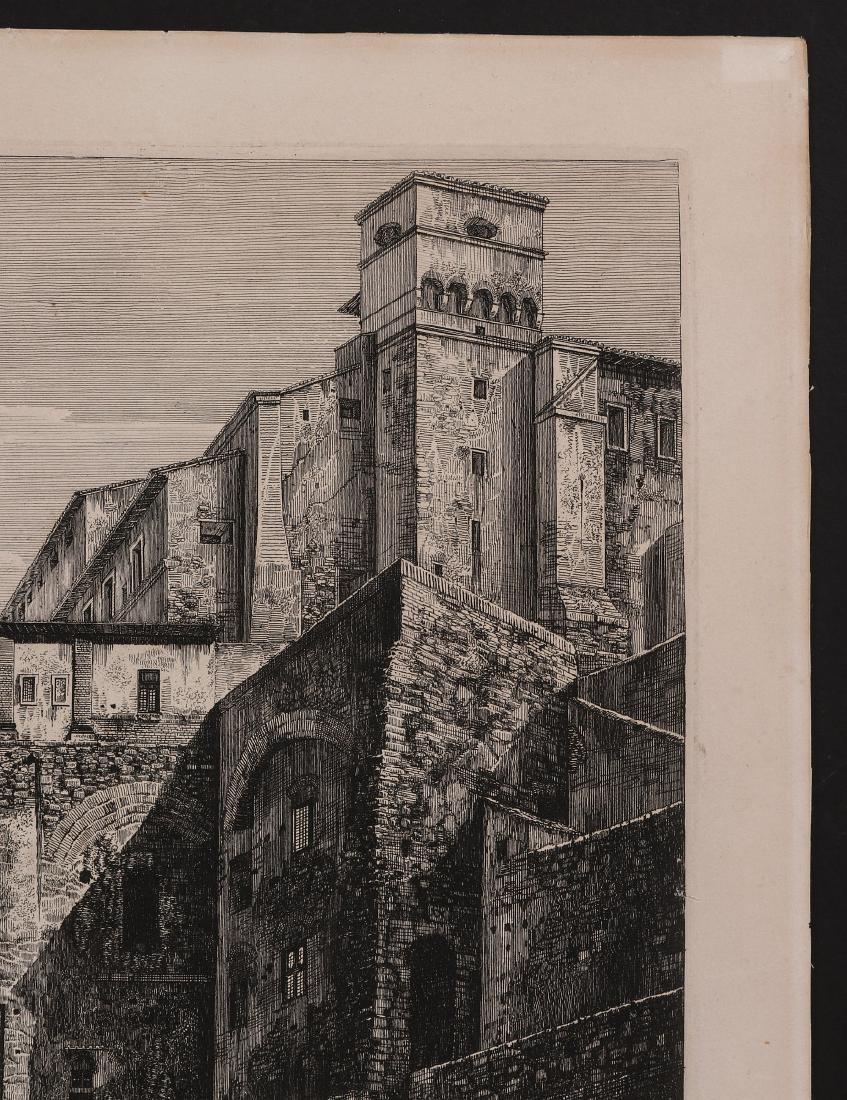 A 19TH CENTURY ENGRAVING LUIGI ROSSINI (1790-1857) - 4
