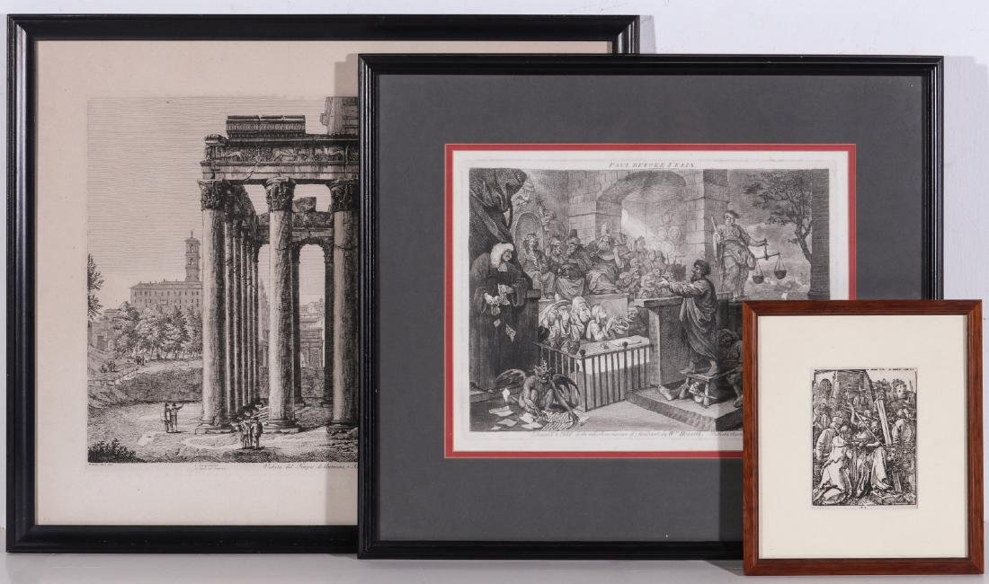 AN ESTATE COLLECTION OF ANTIQUE ETCHINGS