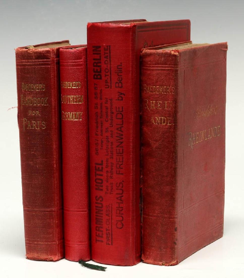 BAEDEKER'S GUIDE & GUIDE THROUGH EUROPE CIRCA 1900