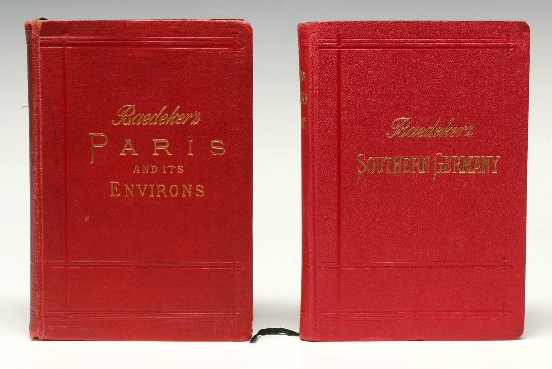 BAEDEKER'S GUIDE & GUIDE THROUGH EUROPE CIRCA 1900 - 2