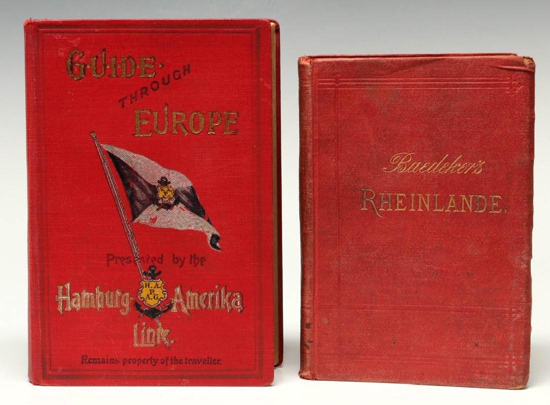 BAEDEKER'S GUIDE & GUIDE THROUGH EUROPE CIRCA 1900 - 4