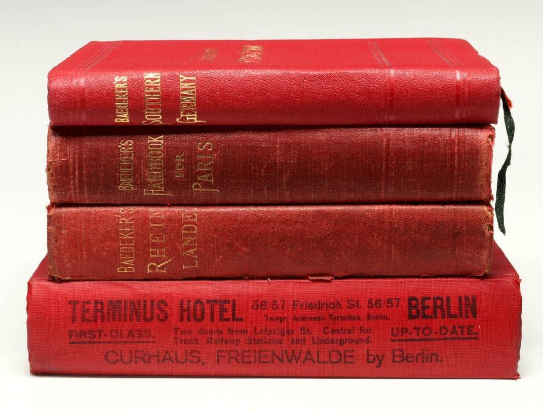 BAEDEKER'S GUIDE & GUIDE THROUGH EUROPE CIRCA 1900 - 8