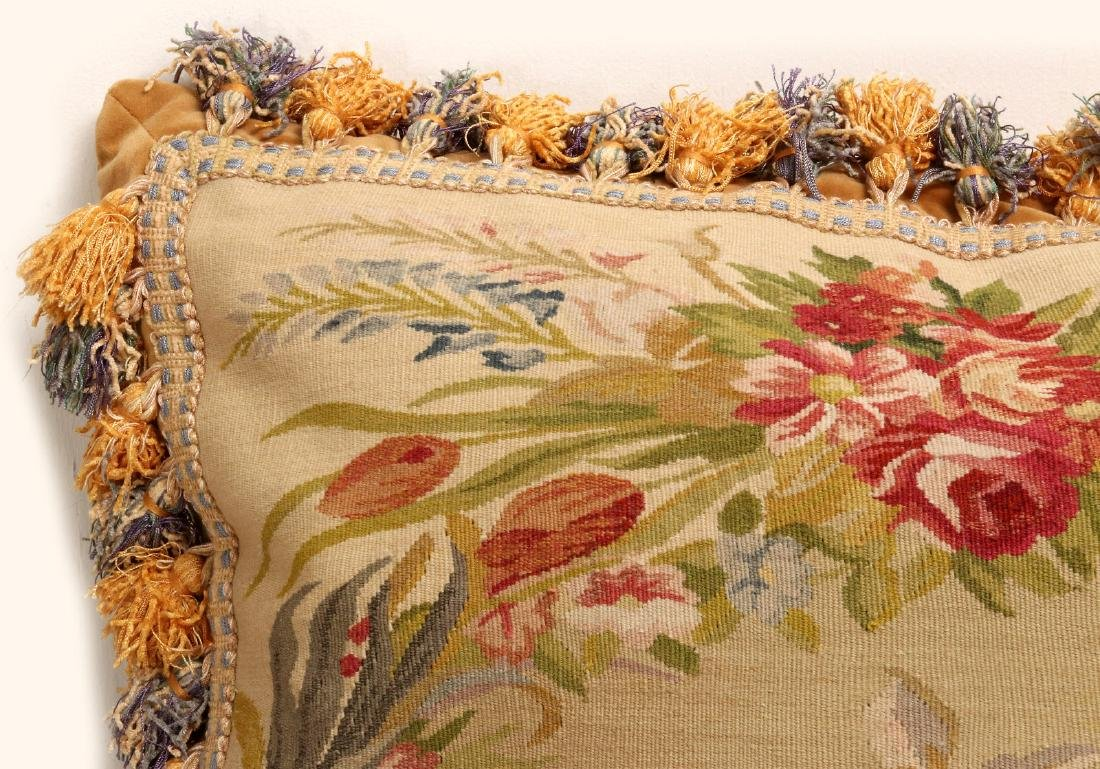 A PAIR NICE CONTEMPORARY FRENCH TAPESTRY PILLOWS - 10