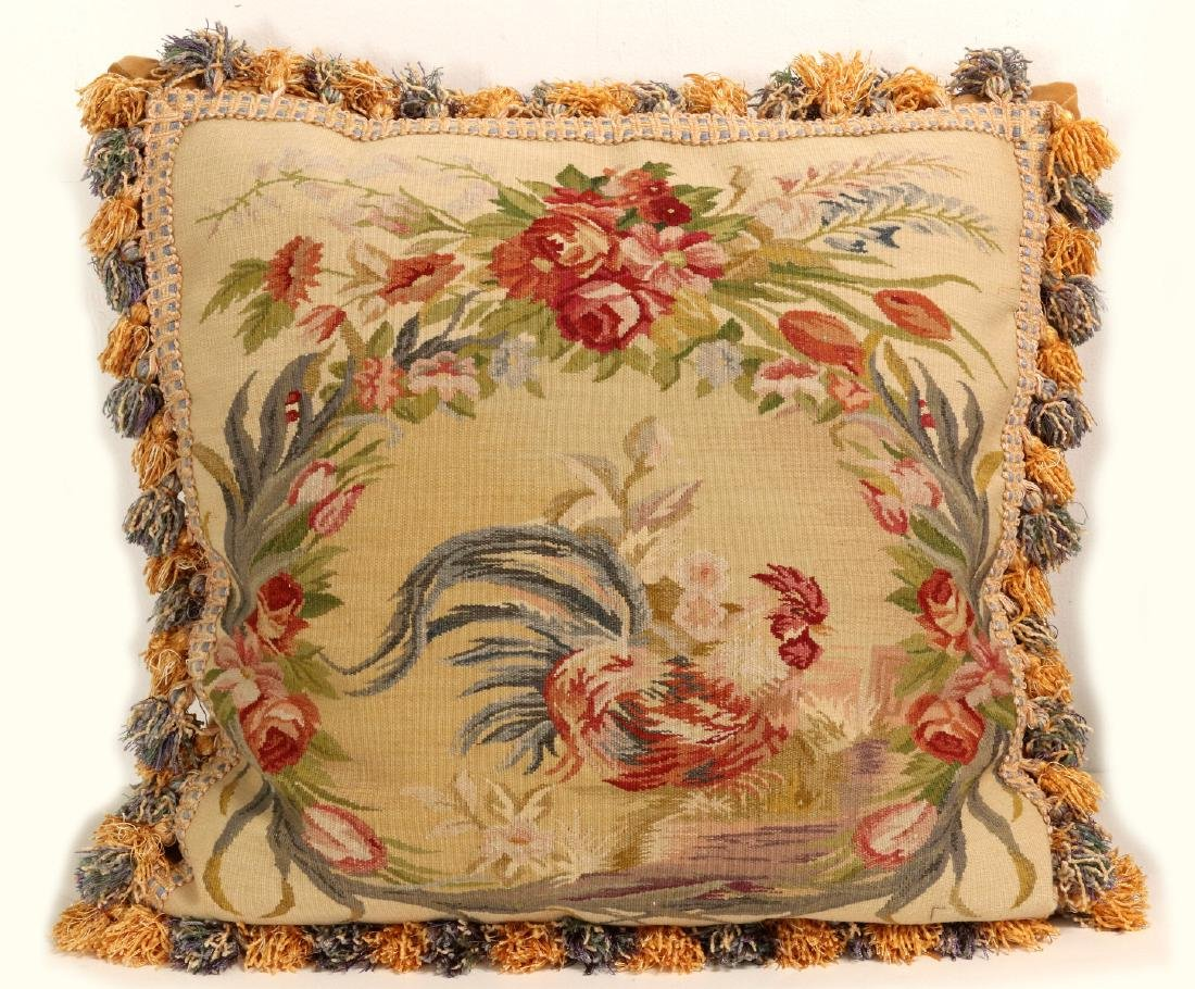 A PAIR NICE CONTEMPORARY FRENCH TAPESTRY PILLOWS - 3