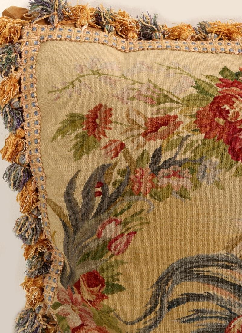 A PAIR NICE CONTEMPORARY FRENCH TAPESTRY PILLOWS - 5