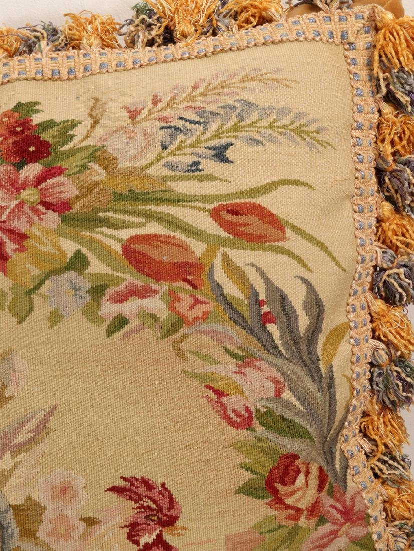 A PAIR NICE CONTEMPORARY FRENCH TAPESTRY PILLOWS - 6