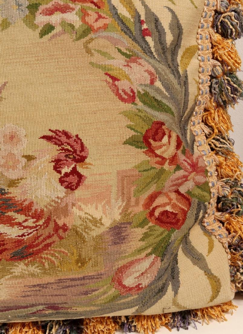 A PAIR NICE CONTEMPORARY FRENCH TAPESTRY PILLOWS - 7