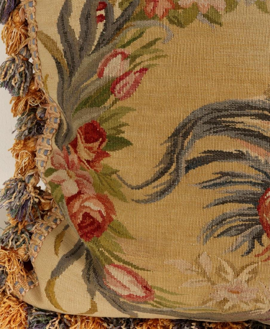 A PAIR NICE CONTEMPORARY FRENCH TAPESTRY PILLOWS - 8