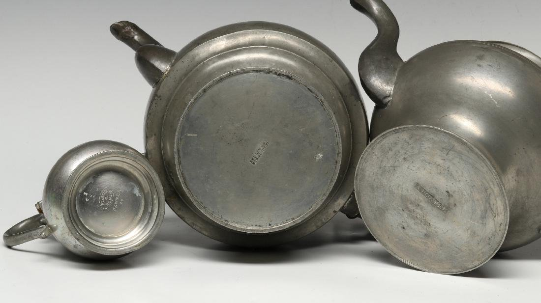 THREE 19TH CENTURY AMERICAN PEWTER VESSELS - 10