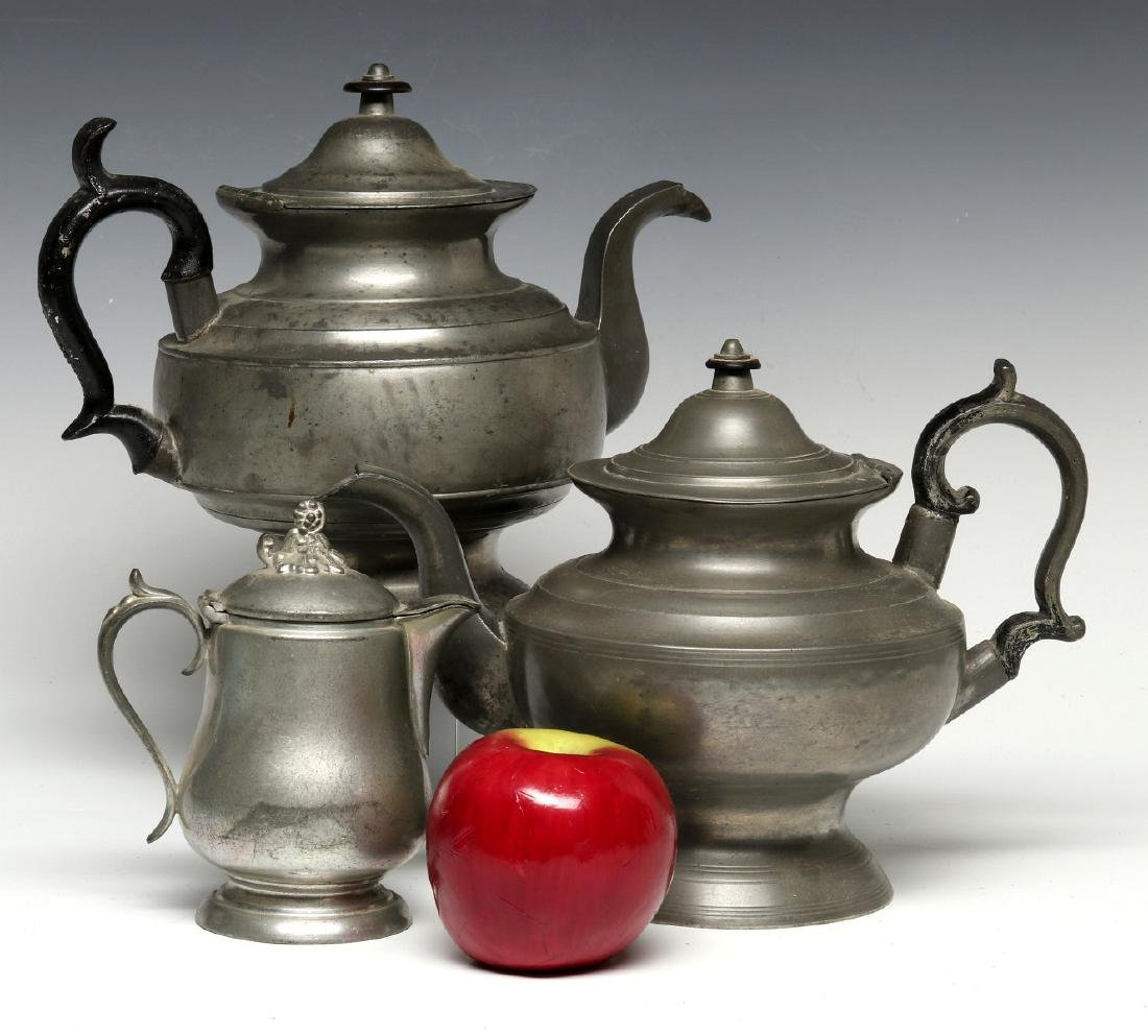 THREE 19TH CENTURY AMERICAN PEWTER VESSELS - 2