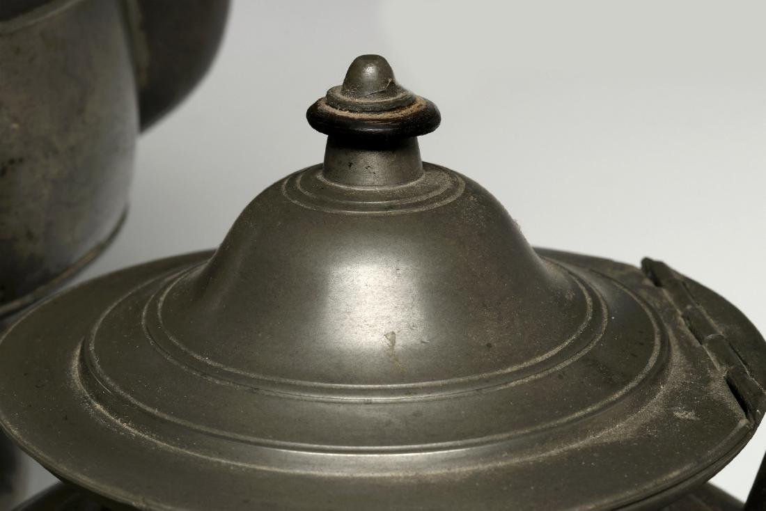 THREE 19TH CENTURY AMERICAN PEWTER VESSELS - 4