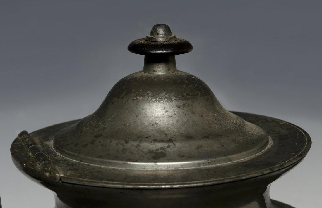 THREE 19TH CENTURY AMERICAN PEWTER VESSELS - 5