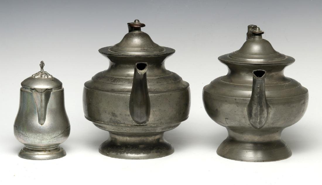 THREE 19TH CENTURY AMERICAN PEWTER VESSELS - 6