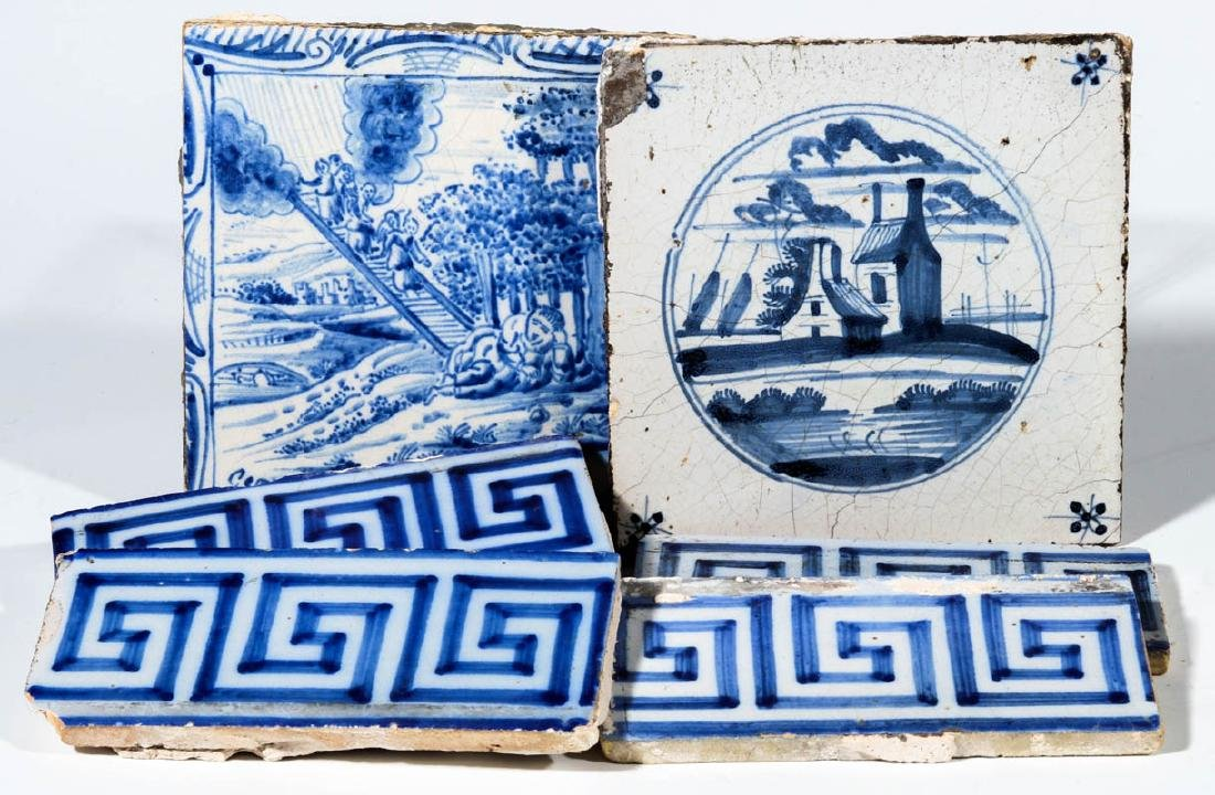 A GROUP OF 17TH / 18TH CENTURY DELFT TILES
