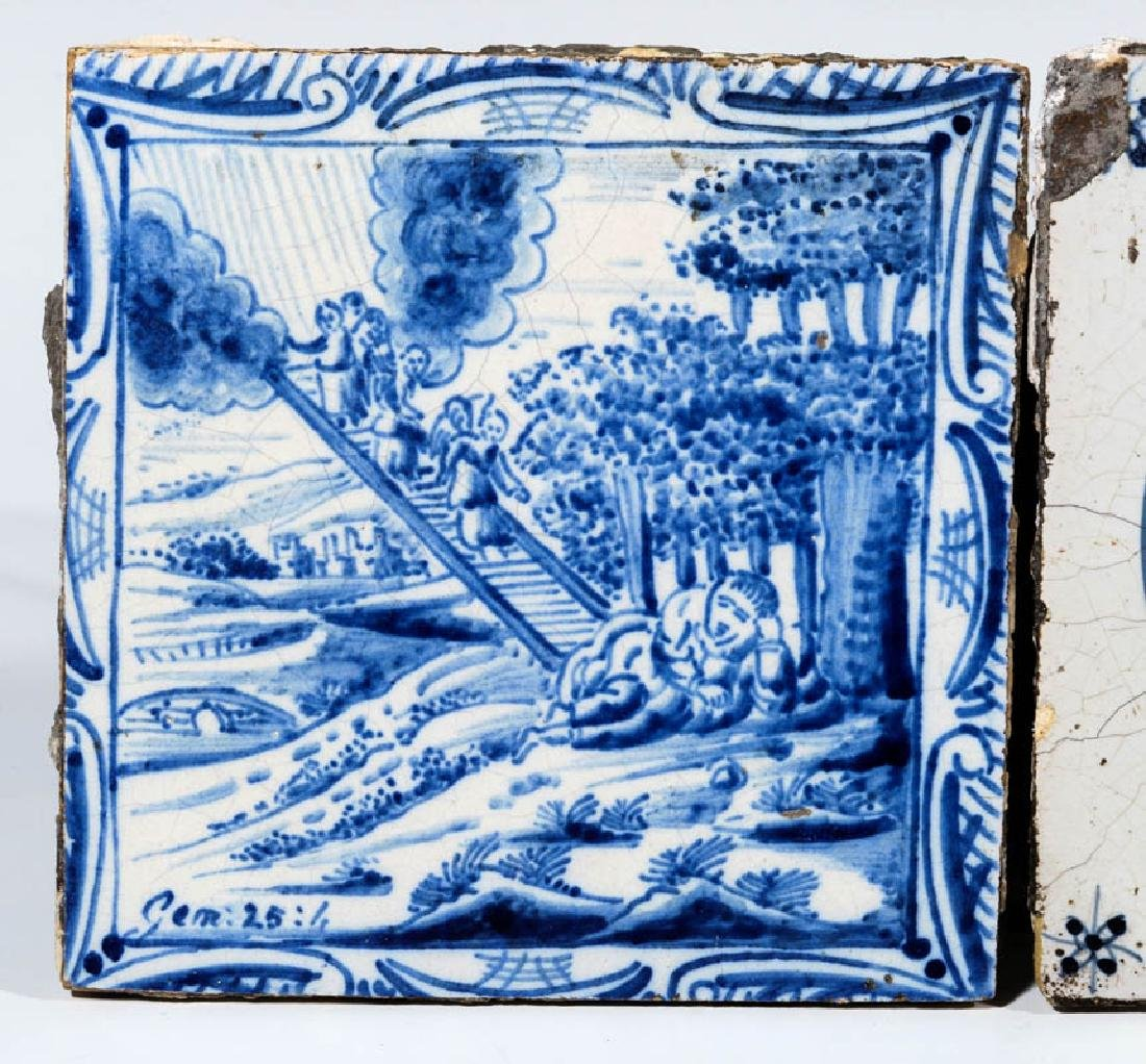 A GROUP OF 17TH / 18TH CENTURY DELFT TILES - 2