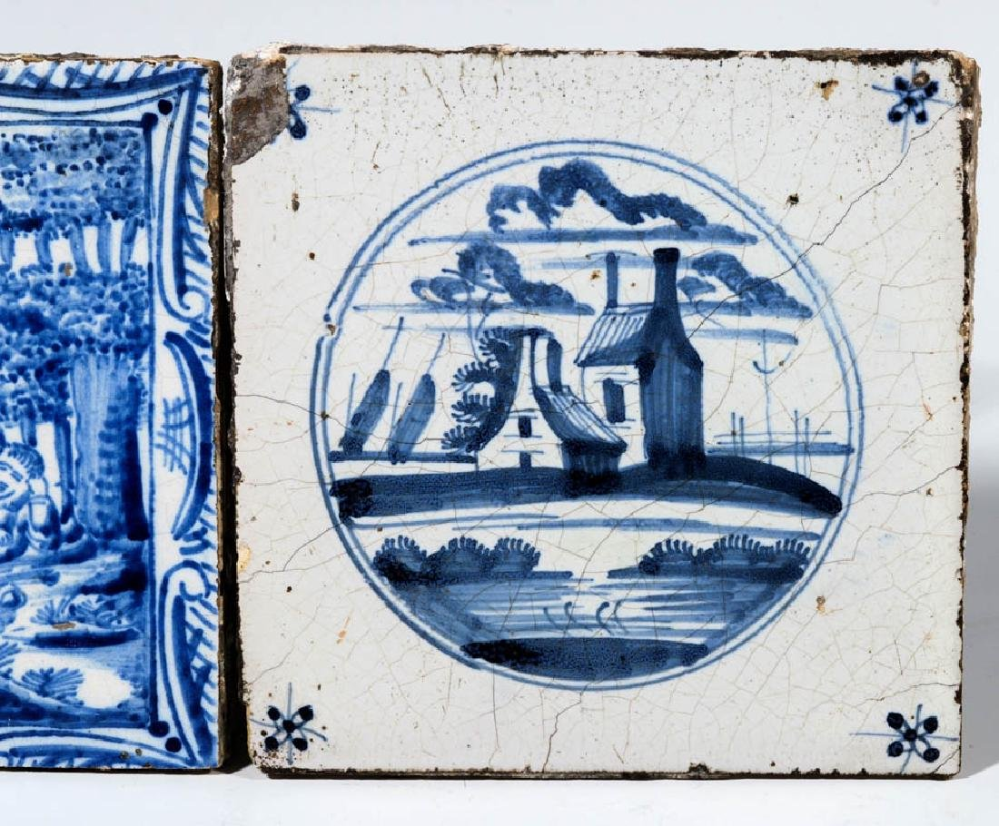 A GROUP OF 17TH / 18TH CENTURY DELFT TILES - 3