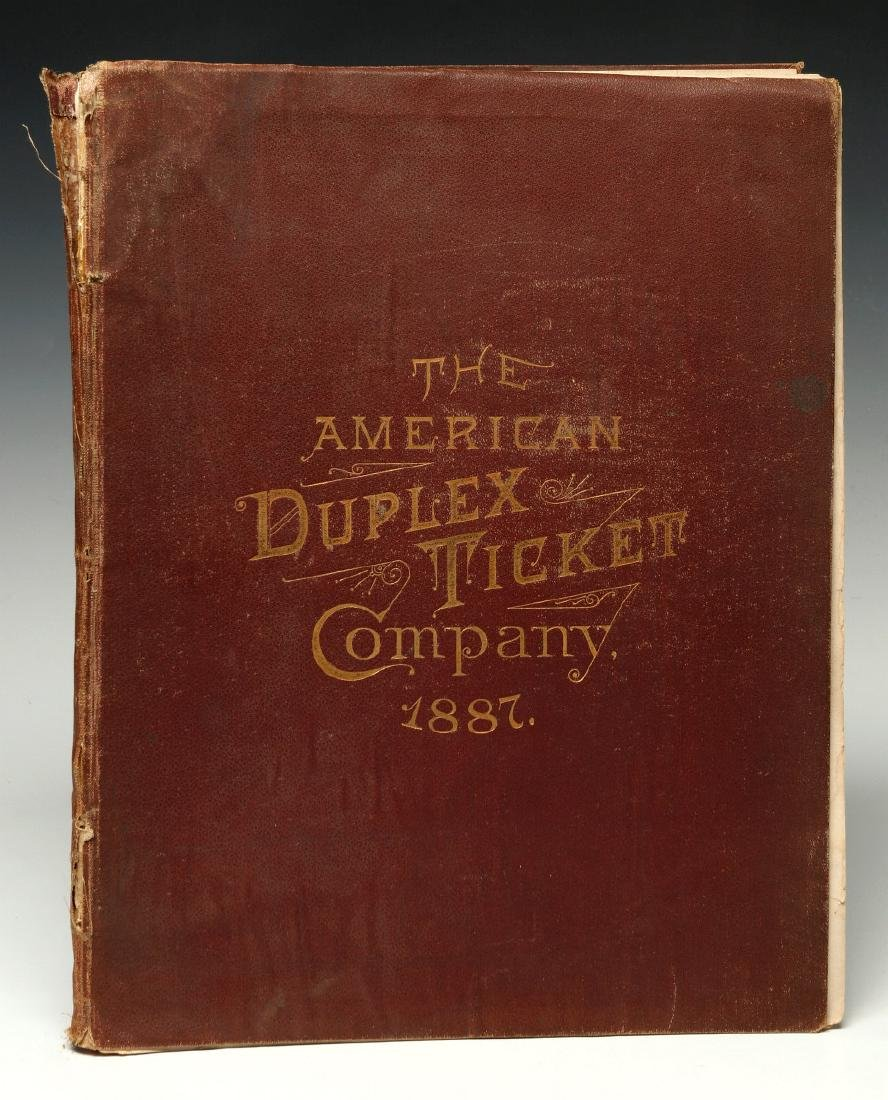 AN 1887 AMERICAN DUPLEX TICKET CO RAILROAD CATALOG