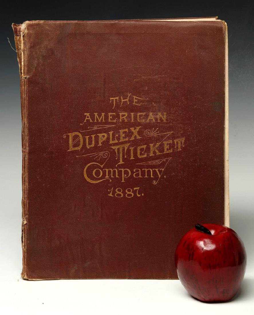 AN 1887 AMERICAN DUPLEX TICKET CO RAILROAD CATALOG - 2