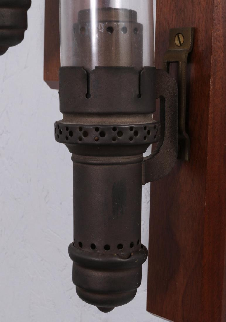 PAIR OF SAFETY CAR RAILROAD CANDLE LAMPS NO. 282 - 2