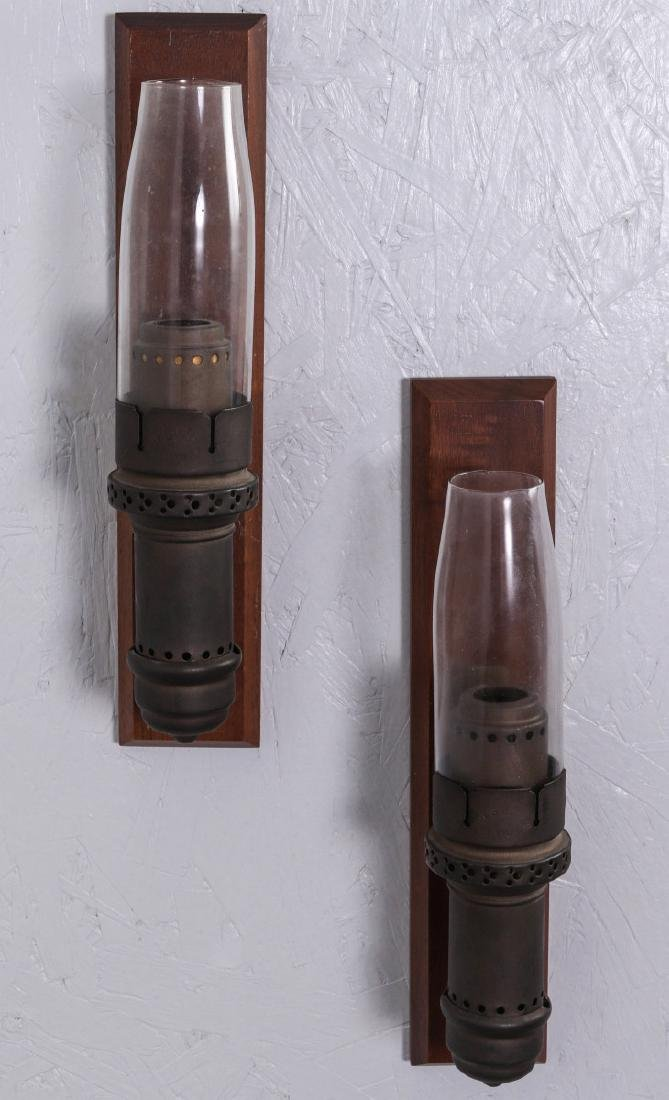 PAIR OF SAFETY CAR RAILROAD CANDLE LAMPS NO. 282 - 4