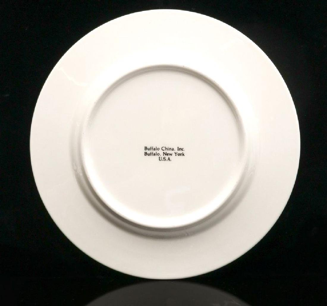 FOUR UNION PACIFIC DINNER PLATES WITH LOGO - 10