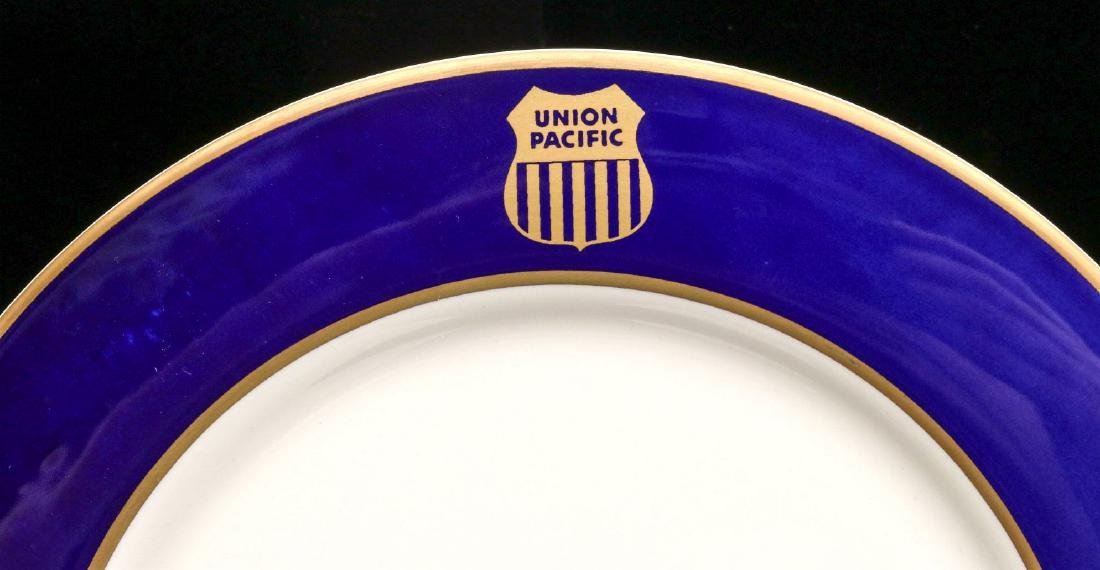 FOUR UNION PACIFIC DINNER PLATES WITH LOGO - 2