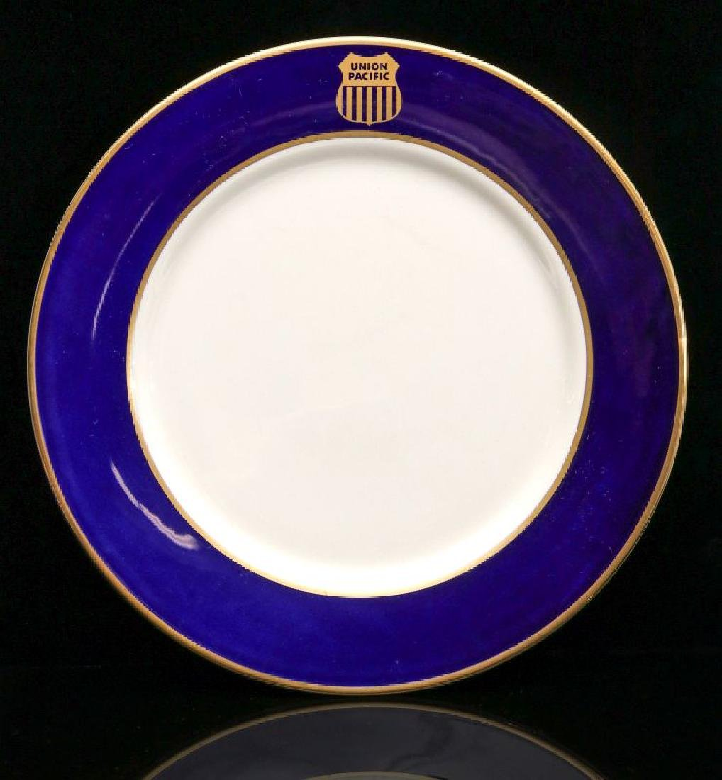 FOUR UNION PACIFIC DINNER PLATES WITH LOGO - 4