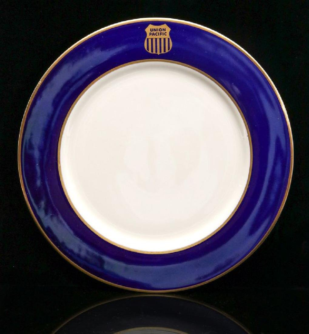 FOUR UNION PACIFIC DINNER PLATES WITH LOGO - 5