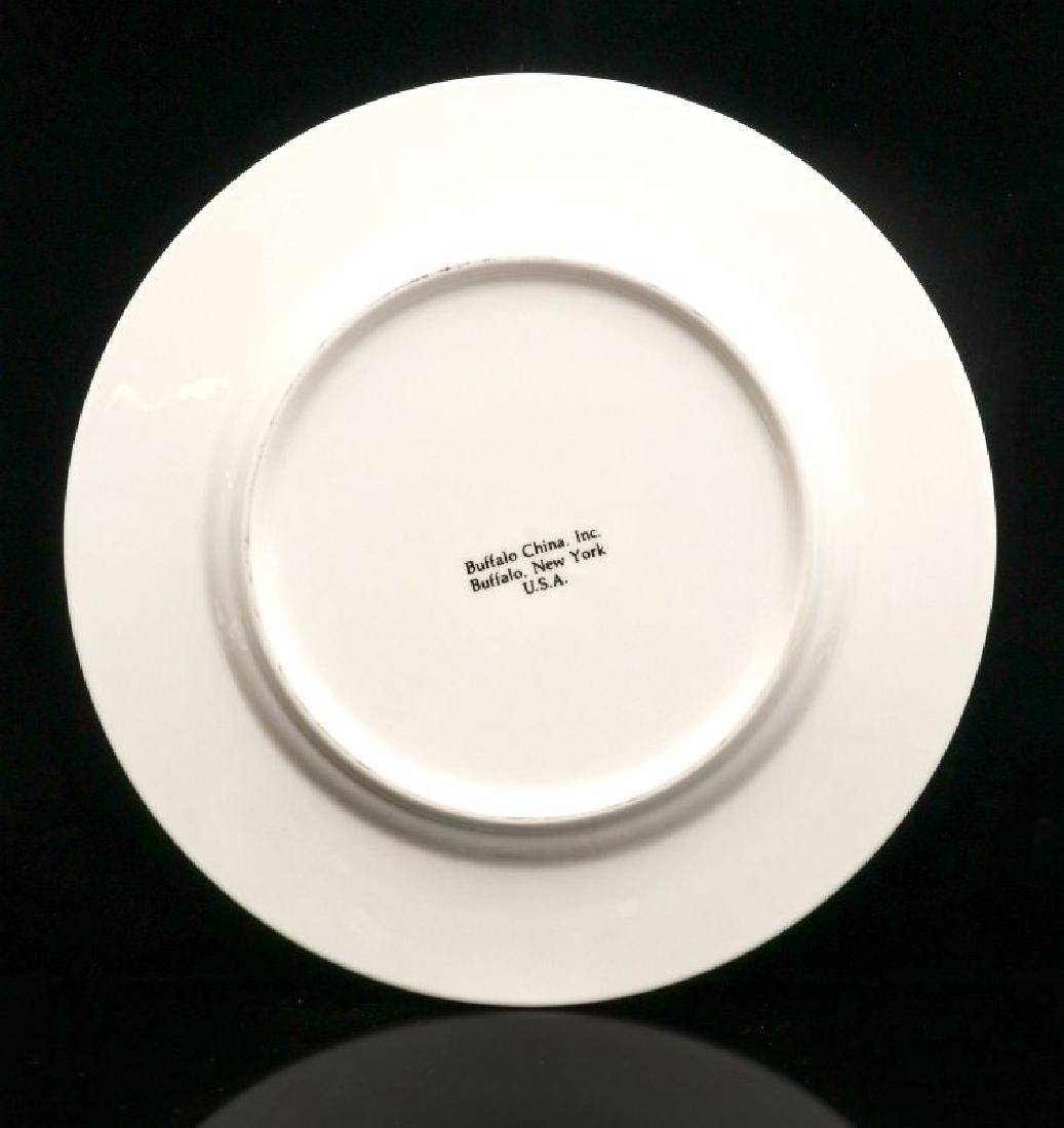 FOUR UNION PACIFIC DINNER PLATES WITH LOGO - 7
