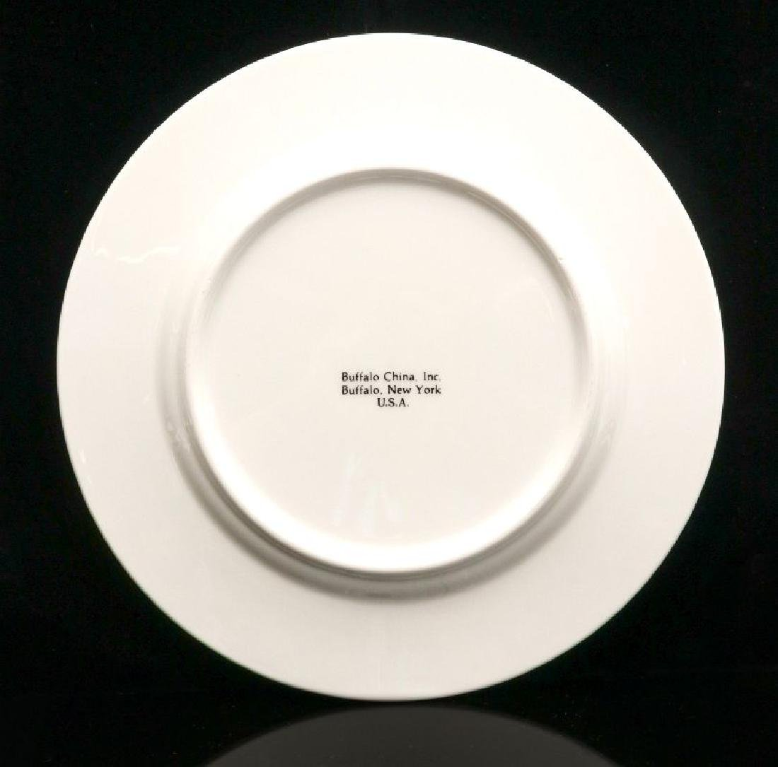 FOUR UNION PACIFIC DINNER PLATES WITH LOGO - 9