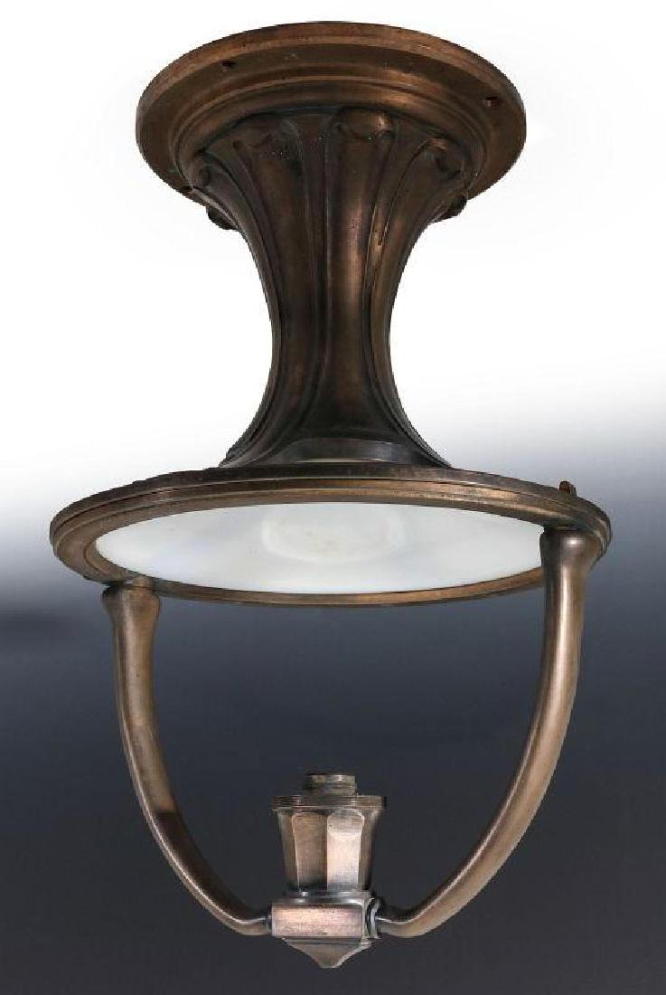 AN ADLAKE RAILCAR CENTER FIXTURE CEILING LIGHT