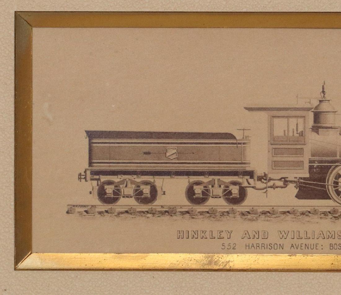 A HINKLEY & WILLIAMS LOCOMOTIVE WORKS RENDERING - 3
