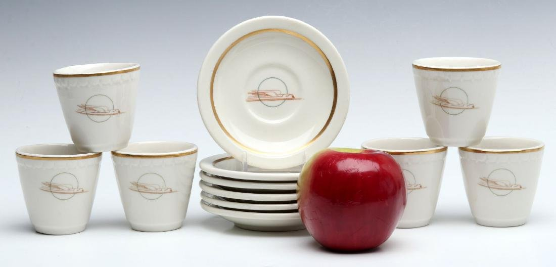 SIX UNION PACIFIC RR DEMITASSE CUP AND SAUCERS - 2