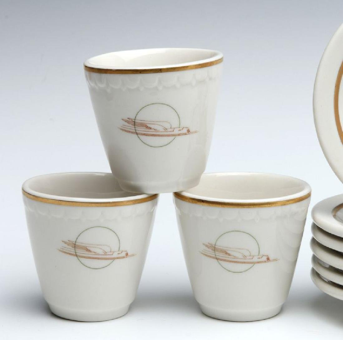 SIX UNION PACIFIC RR DEMITASSE CUP AND SAUCERS - 3